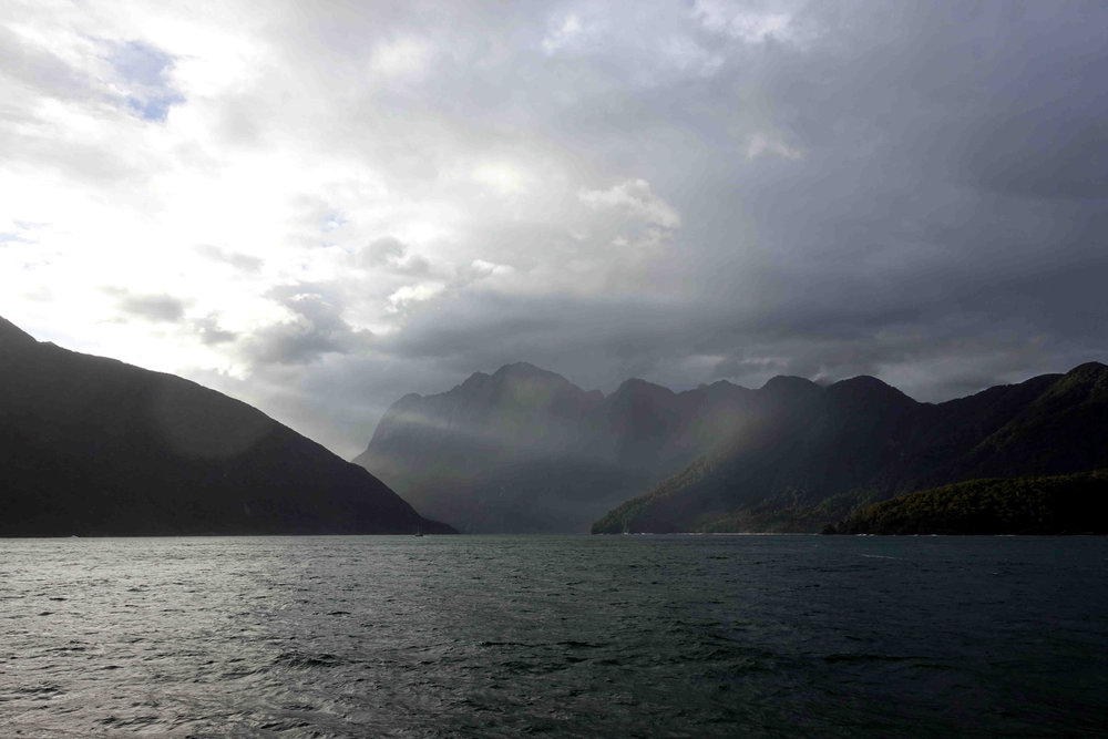 Looking back at Milford Sound.