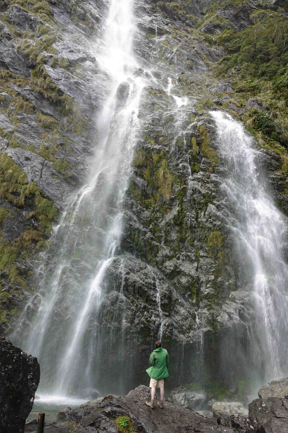 Another mighty waterfall on this holiday - the Earland Falls.