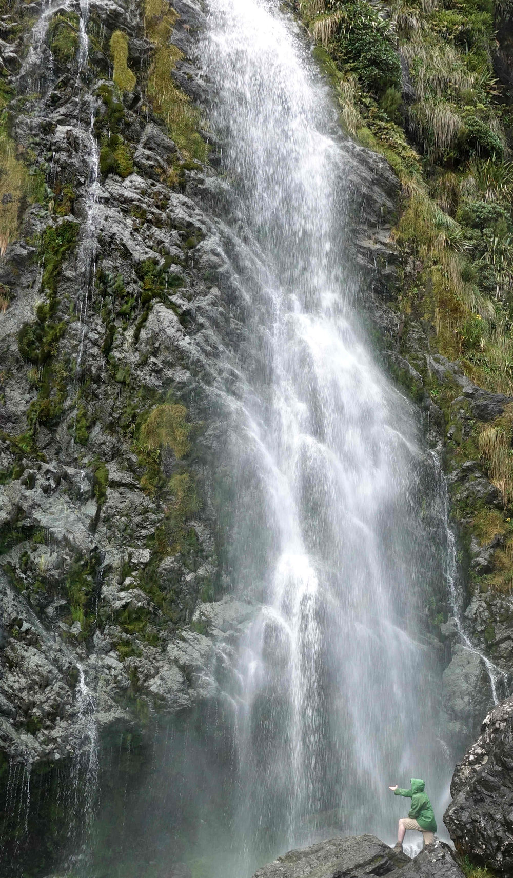 which I of course had to stick my hand into - Earland Falls are 174 meters high.