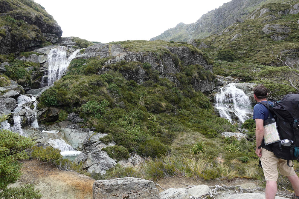 Looking at the Routeburn Falls