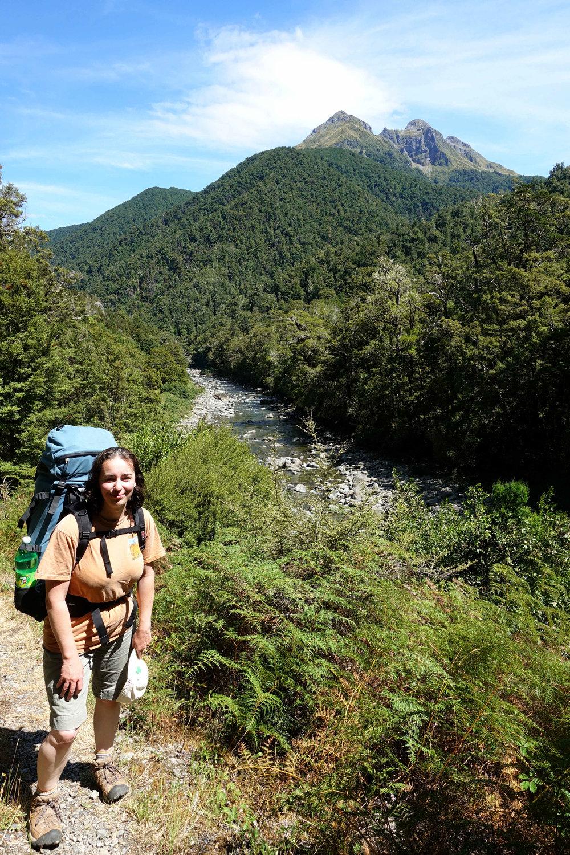 Julianne and the Wangapeka River