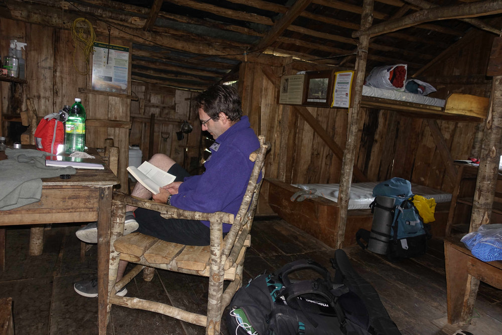 Resting in the Historic Cecil Kings Hut