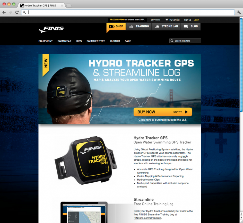 Hydrotracker Landing Page