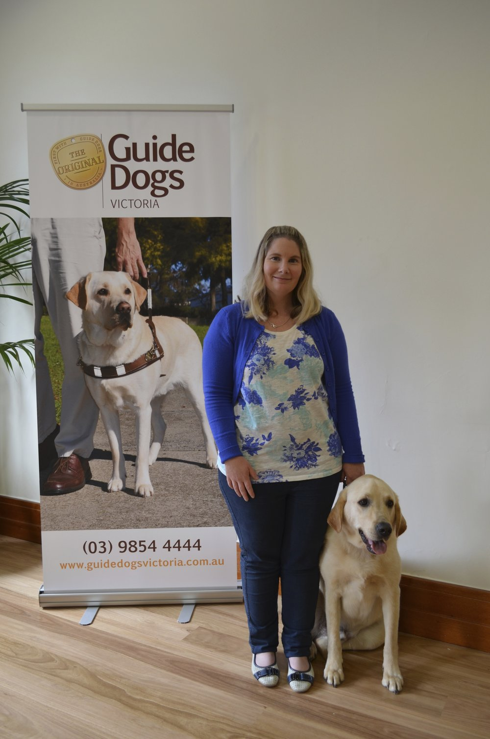 Guide Dogs Victoria Graduation Ceremony - Kelly Mandemaker and Selwyn the 'Companion Dog' formally become a partnership for the Austin Hospital School's Therapy Dog Program for Inpatients and Outpatients of the Child and Adolescent Mental Health Service (CAMHS) and The Austin School.Kelly founded this program in 2012.
