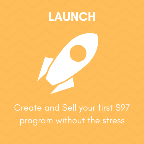 Module 5 - LET'S LAUNCH! - So, You are ready to Launch and SELL your $97 program. This module gives you the timing and process to launch your product through the open cart, email and video schedule.