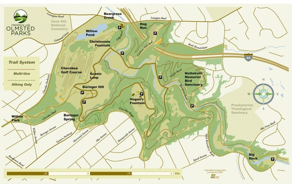 Cherokee Park Trail Map