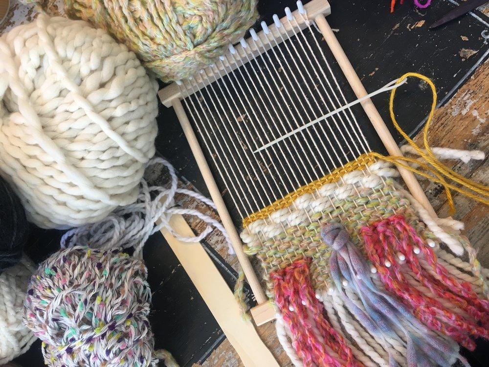 weaving class at Lula School