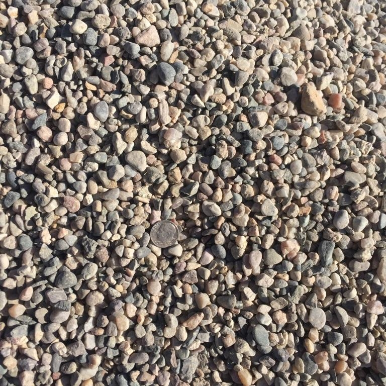 "3/8"" Round  Round rock used for drainage backfill, mixing concrete and landscaping"