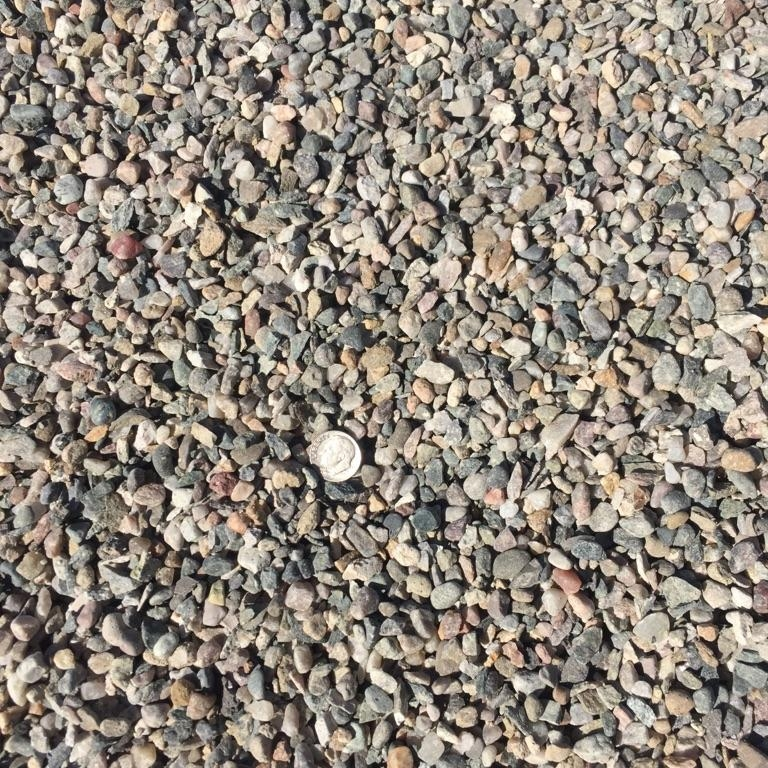 """3/8"""" Crushed  Crushed rock used for drainage backfill, mixing concrete and landscaping"""