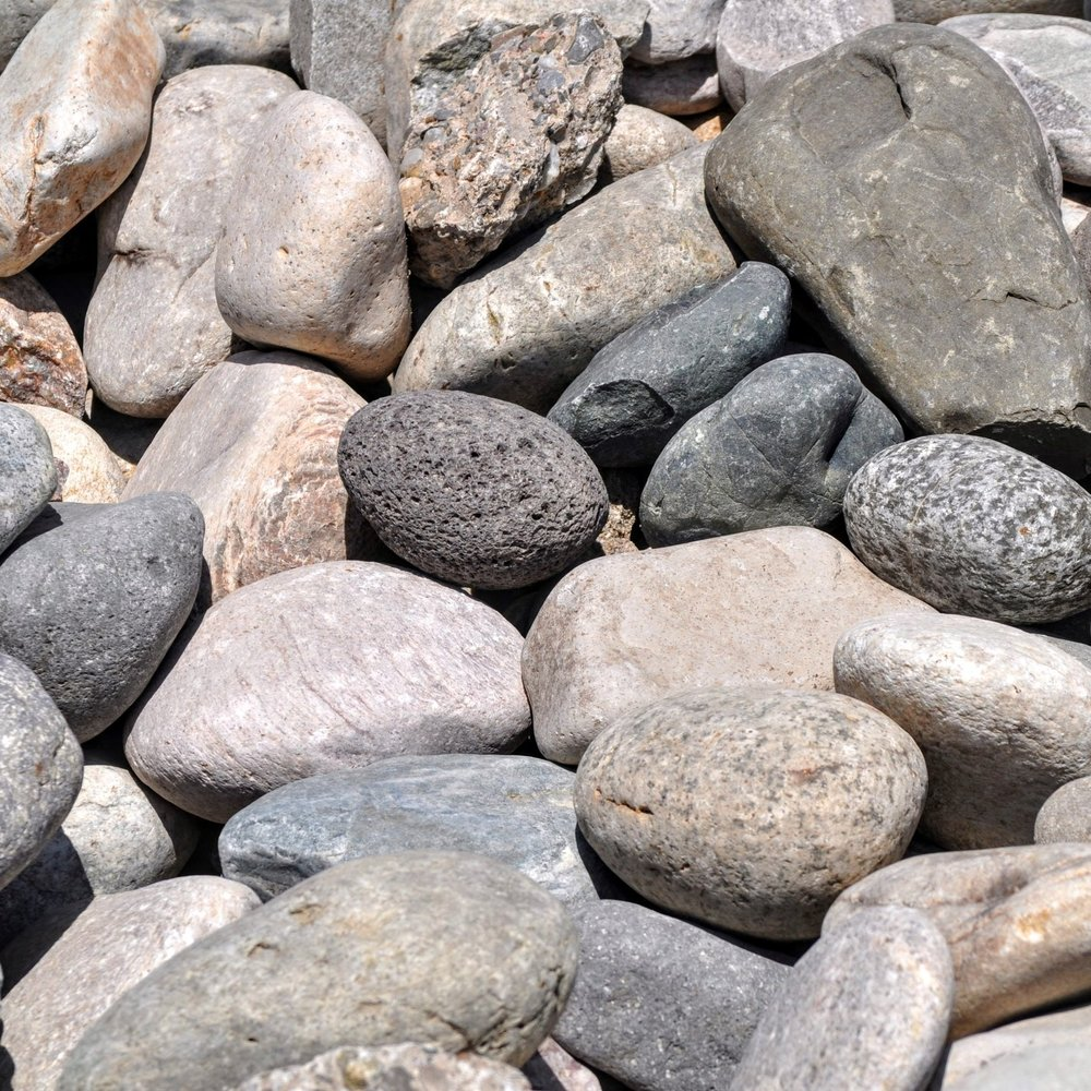 """Rip Rap 6-12""""  Large cobble rock, used for erosion protection. Also a great landscaping material."""