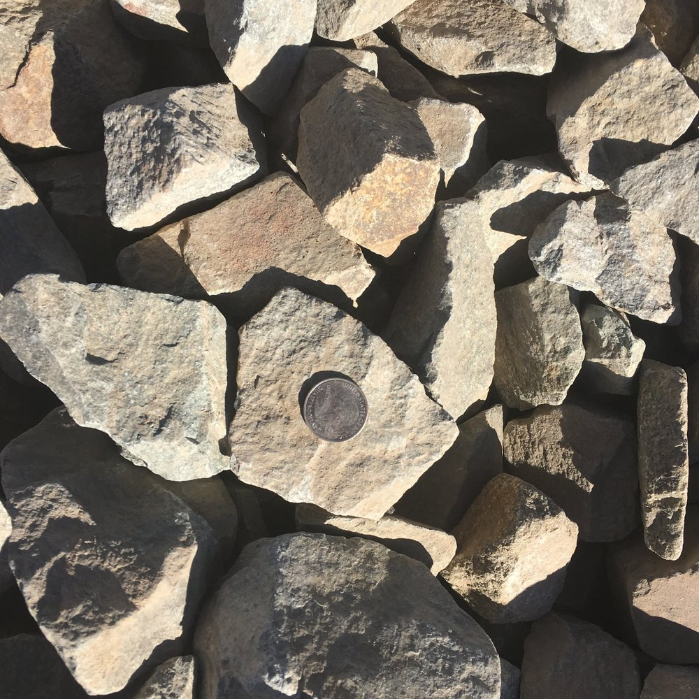 """2-4"""" Waldo  Rock mined from our Waldo Canyon mine - distinctive coloring a favorite for landscaping"""