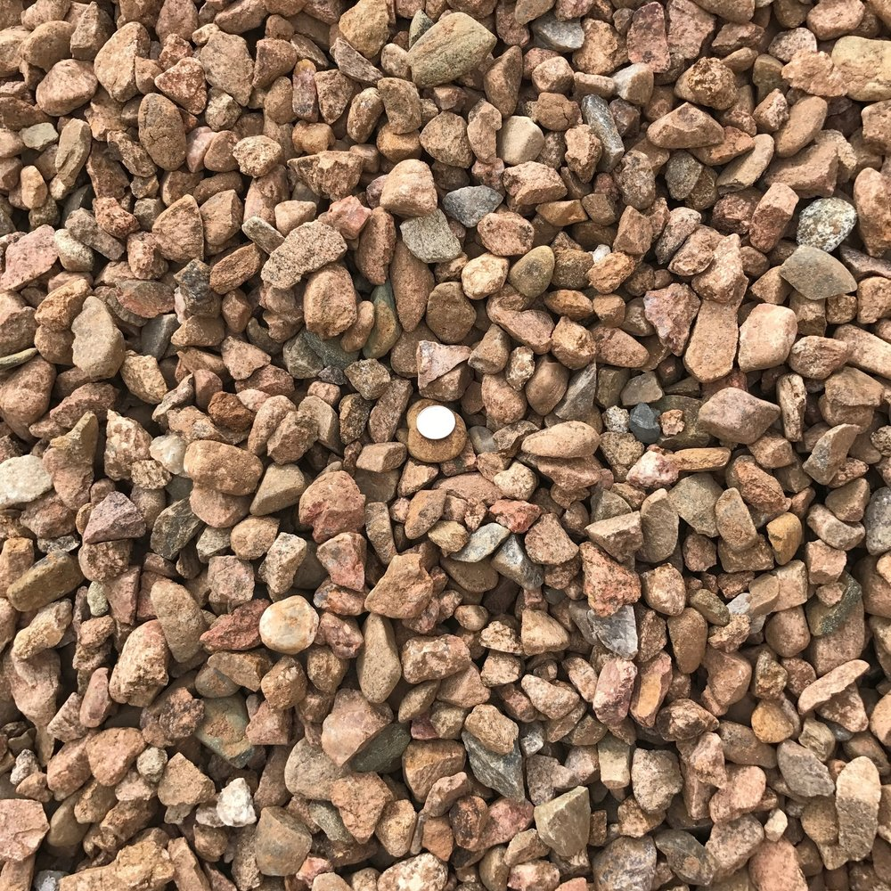 "Santa Fe Brown 7/8""  Popular brown landscape gravel"