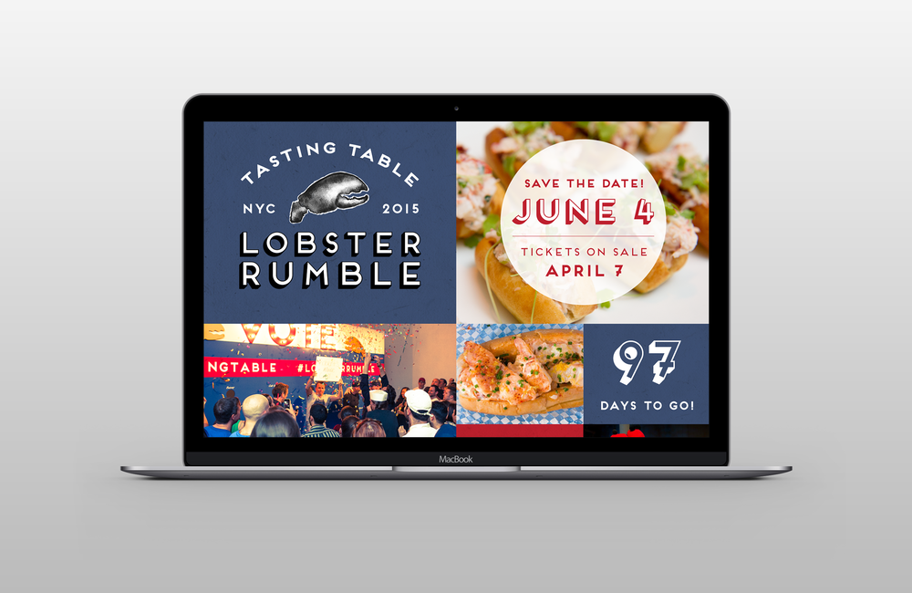 Lobster Rumble Brand identity, web design, event collateral