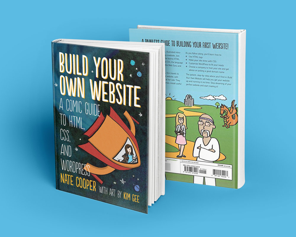Build Your Own Website: A Comic Guide to HTML, CSS, and Wordpress Comic art