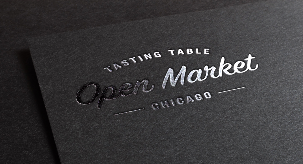 Open Market Chicago Brand identity, web design, event collateral