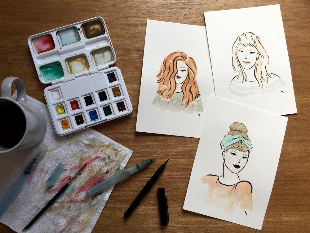 Portraits Commissioned illustrations