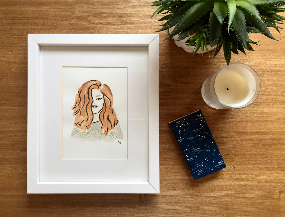 Custom watercolor portraits Shop now »