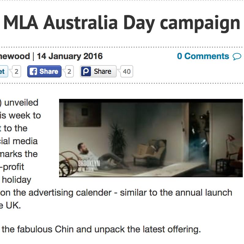 ADNEWS  Creatives Unpack MLA Australia Day Campaign