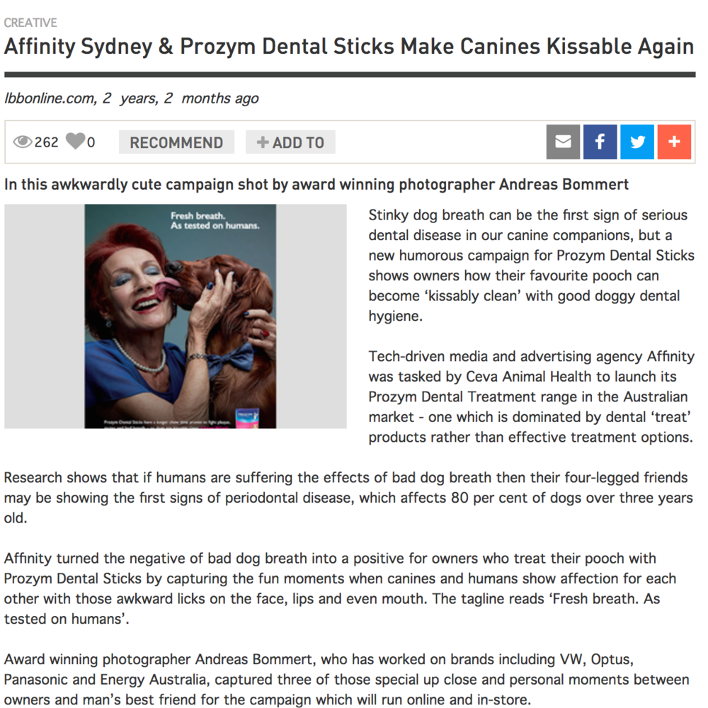 LITTLE BLACK BOOK Affinity Sydney & Prozym Dental Sticks Make Canines Kissable Again