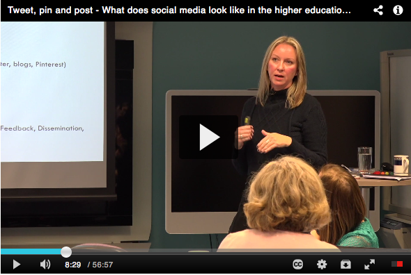 Tweet, pin and post - What does social media look like in the higher education classroom?   Associate Professor Narelle Lemon shares insights into working with Twitter, Pinterest and blogs with students across face-to-face and blended modes of delivery, and provides her top 13 tips for including social media in a learning and teaching setting.