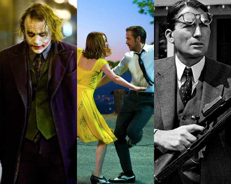 'The Dark Knight' (Warner Bros.) / 'La La Land' (Summit Entertainment) / 'To Kill a Mockingbird' (Universal Pictures)