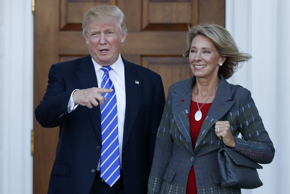 President-elect Donald Trump says he will nominate school-choice advocate Betsy DeVos to be secretary of education. (Carolyn Kaster/AP)