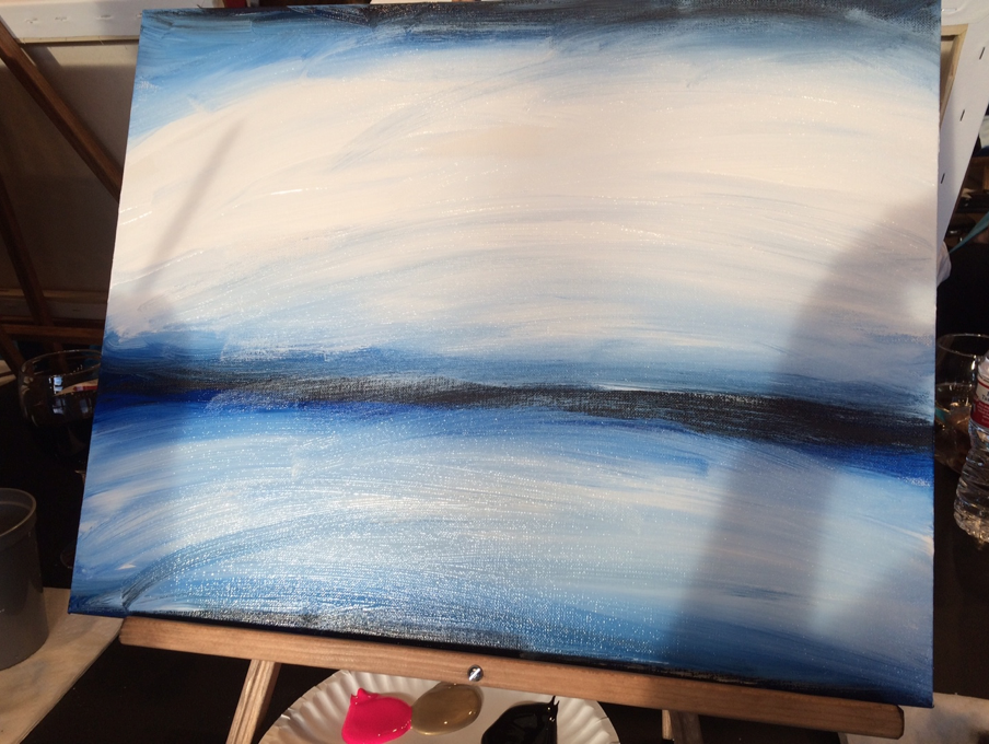 Can you guess what my painting is going to be?