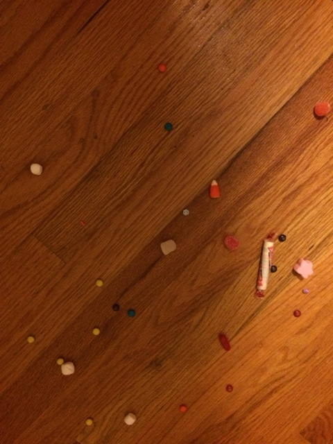 What my floor looked like after the party. Totally worth it!