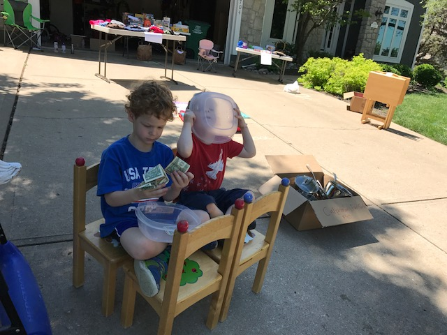 My top-selling salesmen working on commission.