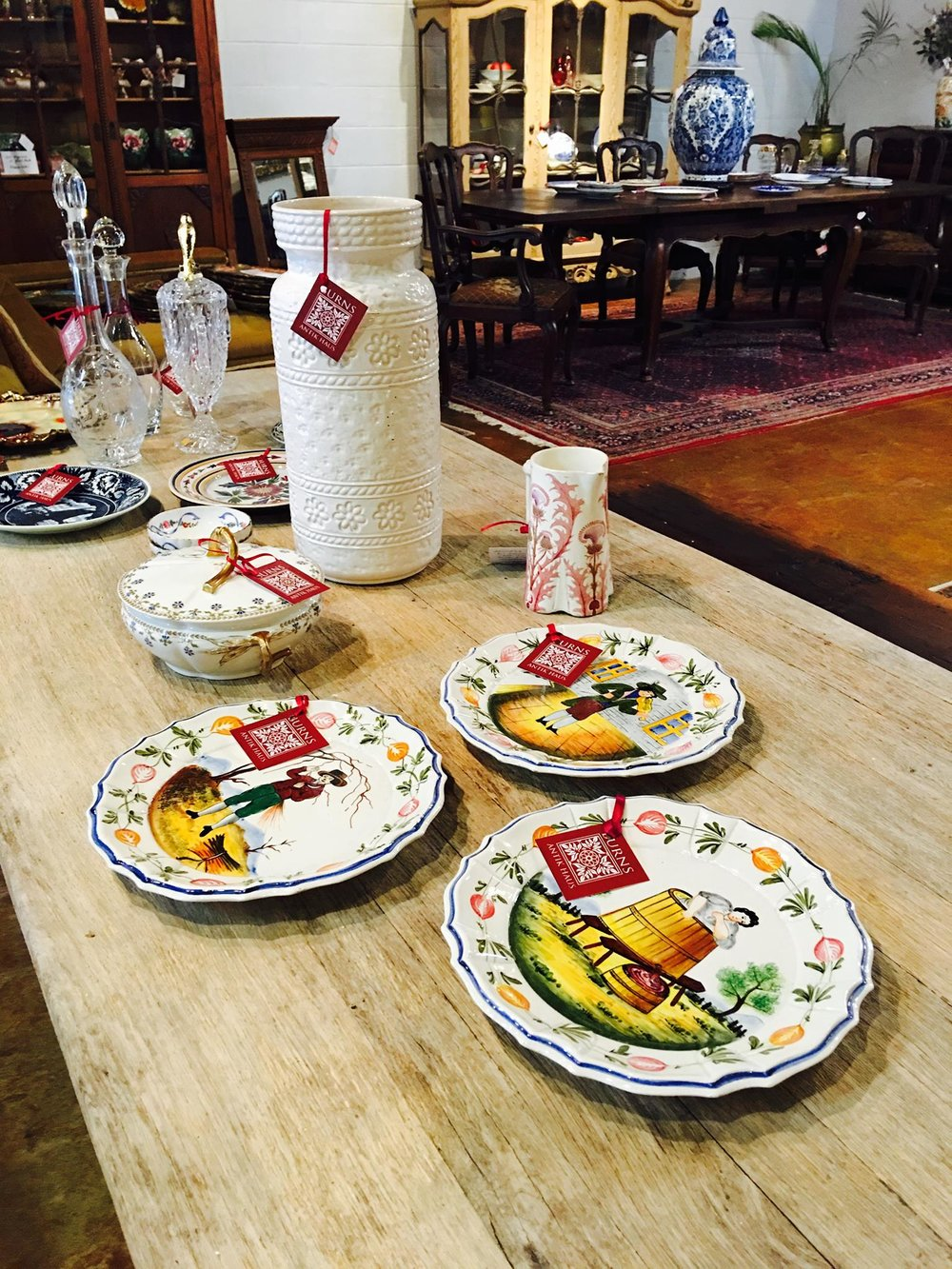 New arrivals just out! Gorgeous French decanters and new pottery pieces. And it's never to early to start shopping for that special Valentine in your life!!! 2195 Calder Ave, Beaumont Tx, 77701, 409.835.3080.  #burnsantikhaus   #vintage   #europeanimporters   #shopsmall