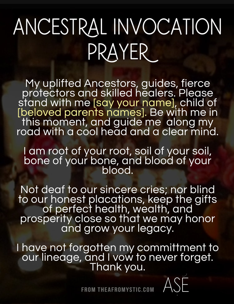 Hoodoo Conjure Ancestor Prayer