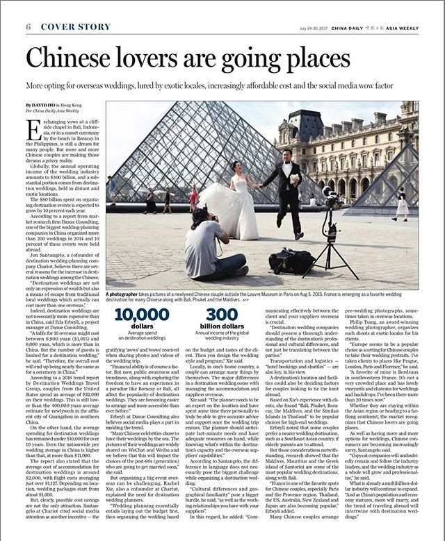 Part 2 in #chinadaily #chinesewedding #destinationwedding