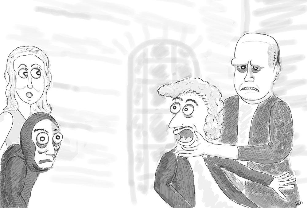 young frankenstein cartoon