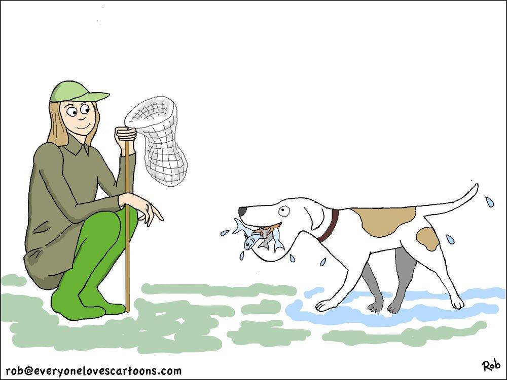 woman-dog-fishing-cartoon