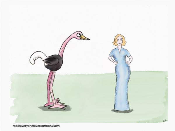 woman-and-ostrich-cartoon