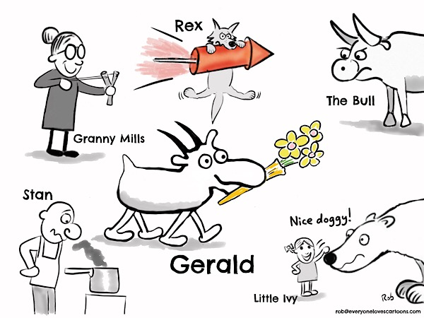 The Gerald the Goat characters