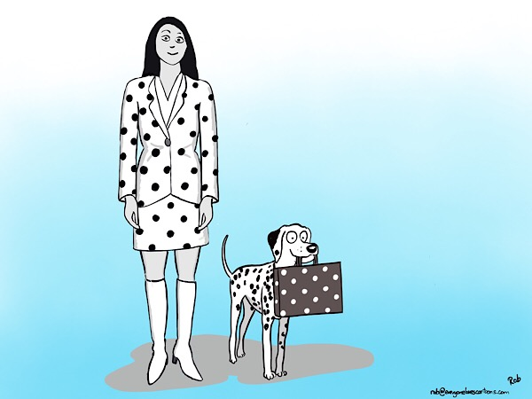 …this may be the first time that a Dalmatian has appeared in a 'business stock image'…