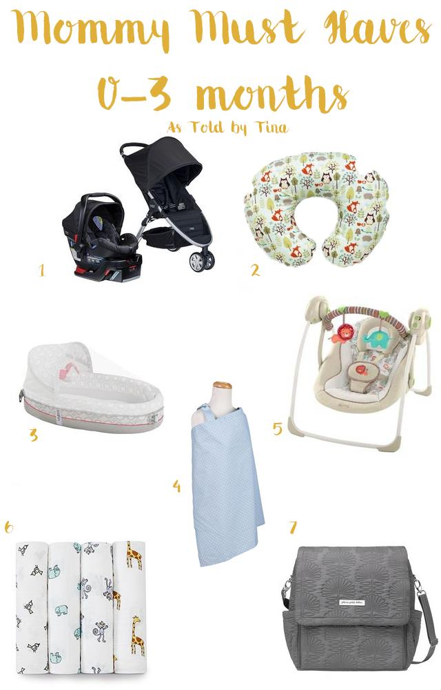 Mommy Must Haves 0-3 months
