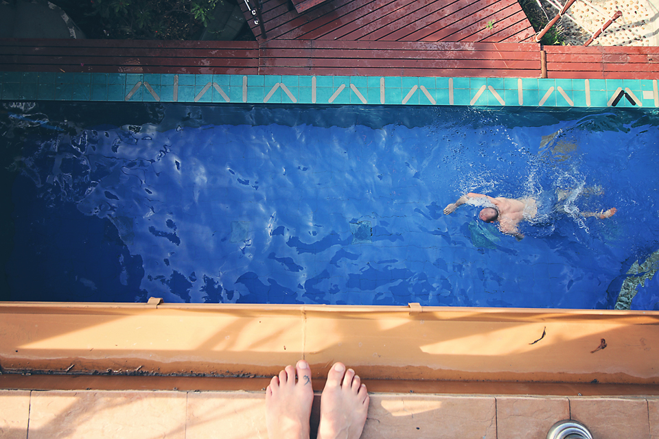 Never too early or late for a swim in the pool at Paradise Villa