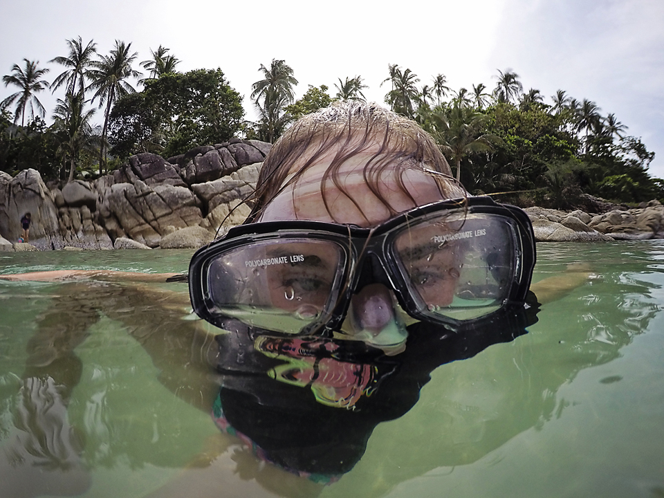 Snorkling at Bottle Beach