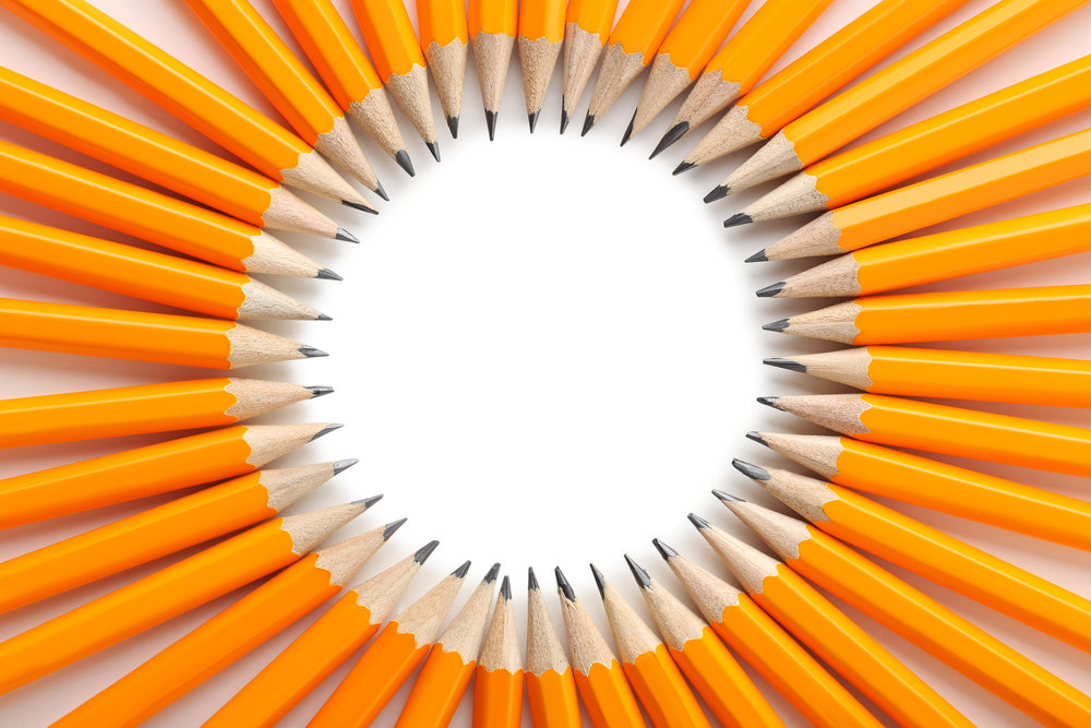a bunch of sharpened pencils signifying our readiness to prepare students for exams