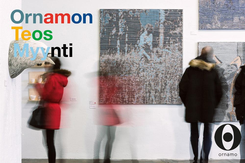 Ornamo teosmyynti 10th to 18 March 2018  Puristamo,  Kaapelitehdas , Tallberginkatu 1 C, Helsinki.