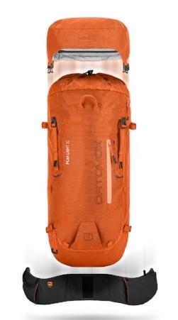 Au choix, un sac complet, ou sa version minimaliste, lorsque chaque gramme compte ou que le baudrier est chargé.