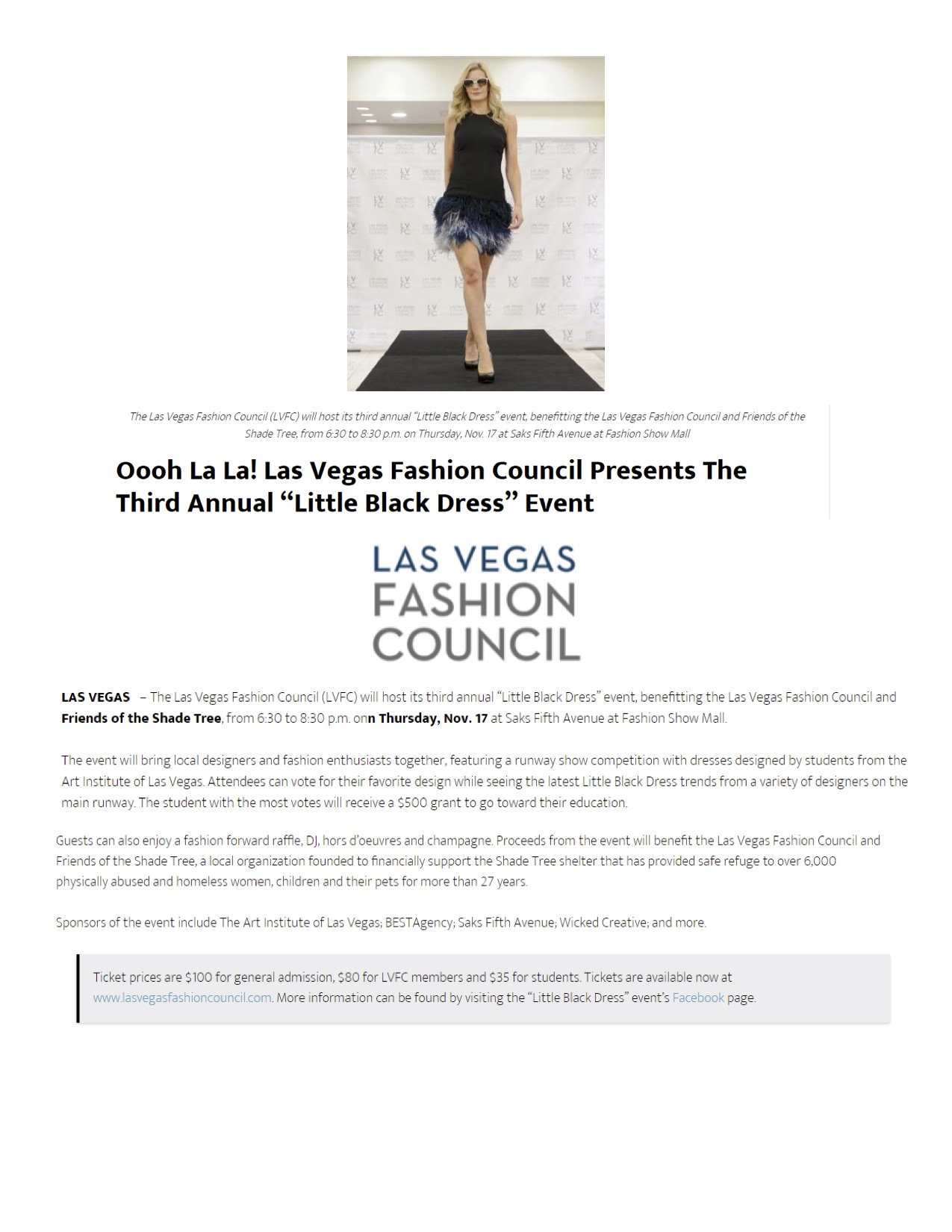 Informer Mag Las Vegas Fashion Council