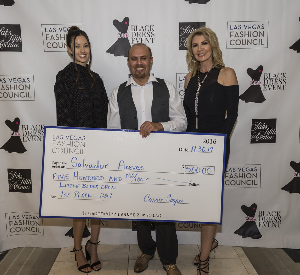 Congratulations to Salvador Aceves, winner of the Little Black Dress 2017 design competition