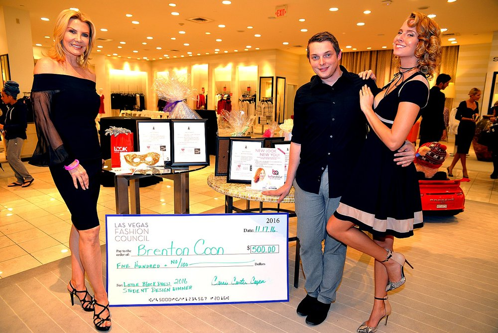 Brenton Coon , winner of the Little Black Dress 2016 design competition