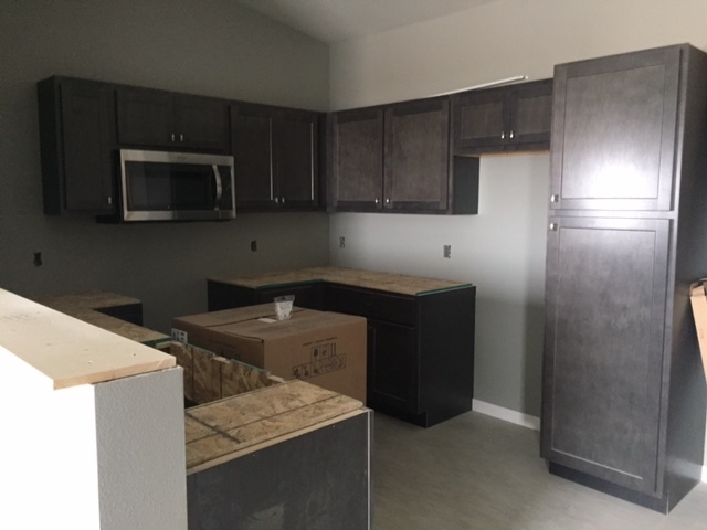 Kitchens on the top floor of Graystone Heights will include granite counters.