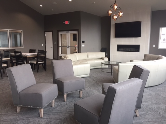 The community room at Graystone Heights.