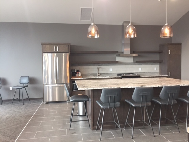 The community room at Graystone Heights