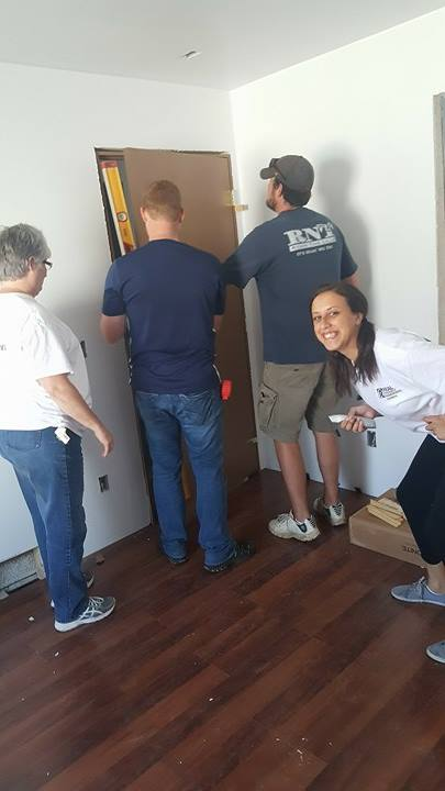 """""""We make a living by what we get, but we make a life by what we give"""" - Winston Churchill - Photos were taken during Graystone Heights and Real Property Management's Habitat for Humanity Volunteer Day."""